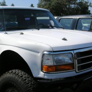 F-Series Hoods 1992- '96 – Stock Style Requires 4 Pins