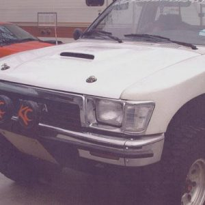 Toyota Pick-Up Hoods – 1989- '95 – Late Style W/ Scoop, Short Bolts to Hinges 2 Pins
